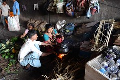 """ OPEN AIR KITCHEN "" (Ayan Kumar Ghosh Photography) Tags: city people india lunch nikon asia kolkata calcutta"