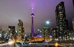 CN Tower - 12/28/2015 (I.C. Ligget) Tags: toronto ontario canada tower skyline night cn buildings nikon long exposure cntower skyscrapers d5100 nikond5100