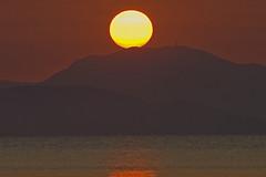Mercury Transit (n.pantazis) Tags: sunset sea sun dark solar mercury earth system planet transition antenna pentaxks2 mercurytransition