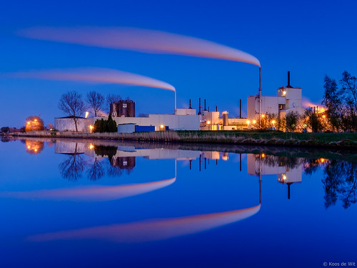 Industry at blue hour