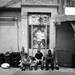Magi (ShelSerkin) Tags: street nyc newyorkcity portrait blackandwhite newyork rain stream candid streetphotography squareformat gothamist iphone mobilephotography iphoneography hipstamatic