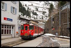 Matterhorn Gotthard Bahn 51, Gschenen 22-02-2016 (Henk Zwoferink) Tags: und matterhorn 51 bahn uri henk zwitserland gotthard lokomotiv slm schweizerische maschinenfabrik gschenen zwoferink