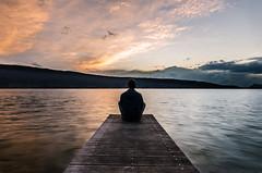 Le calme avant la tempte (Windwsill) Tags: voyage sunset lake france lac paysage pontoon ponton coucherdesoleil etang lacdannecy rhonealpes