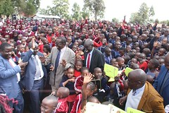 Education PS joined Kapsabet Primary during the distribution of materials
