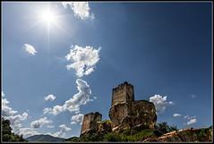 Castillo de Sibirana (Fernando Fornis Gracia) Tags: espaa contraluz landscape paisaje zaragoza cielo nubes castillo aragn uncastillo cincovillas baturaleza