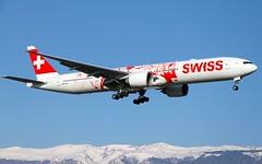 Swiss (People's Plane Livery). Boeing 777-3DE(ER). HB-JNA. LX2802. (Themarcogoon49) Tags: switzerland airport swiss aircraft landing boeing b777 gva cointrin b77w