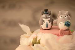 Totoro wedding cake topper (charles fukuyama) Tags: wedding forest stump mariage weddingceremony brideandgroom   bridalbouquet weddingcaketopper customcaketopper claydoll handmadecaketopper