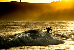 First light... (Deborah Kelland) Tags: new surf fuji surfer raglan