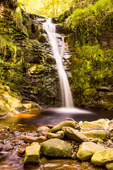 Falling water (Kirings) Tags: longexposure england green forest waterfall nd creamy secluded
