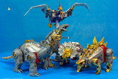 The_Dinobots (Weirdwolf1975) Tags: podcast slag transformers stomp sludge sever swoop snarl soar masterpiece grimlock dinobots scoria fanstoys tfylp