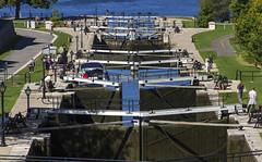 Lock Gates (Kev Gregory (General)) Tags: lock gates rideau canal river ottawa canada kev gregory transport boat scenic water