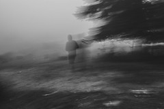 (ioannabo) Tags: shadow blackandwhite black fog greece human sanatorio parnitha