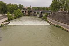 The Tiber River (colinemcbride) Tags: bridge italy rome roma river island ancient italia tiber oldest lazio isola pons tiberina fiumi fabricius