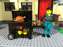 Larger-scale gas grill (woodrowvillage) Tags: brick toy lego grill creation technic legos build snot minifigure moc