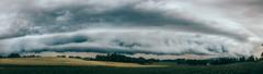Apocalyptic clouds (Davide Bon) Tags: panorama storm rain clouds 35mm landscape nikon pano apocalypse dramatic fields thunderstorm thunder fvg friuli iger colloredo 35mm18 vsco nikond7100 vscofilm igersfvg