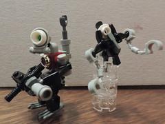 Search-bot and guide-bot (joaqunechavarra) Tags: robot lego fantasy scifi minifig custom mech minifigure moc npu purist