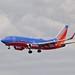Southwest Airlines Boeing 737-700 landing San Jose, SJC P6173661