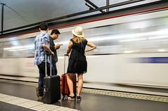 Passatgers (Assun) Tags: metro juliol barcelona underground subte passatgers entransit