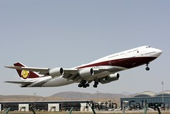 VQ-BSK BBJ Qatar old style (Martin J. Gallego. Siempre enredando) Tags: plane airplane alicante boeing aer boeing747 avion qatar b747 planespotting leal aeroplano aeronave qataramiriflight vqbsj