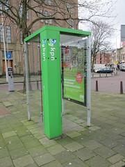 Nieuwe telefooncel met KPN logo (RaAr2010) Tags: denhaag kpn straatbeeld telefooncel straatmeubilair weteringkade nieuwetelefooncel