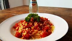 Italian cuisine (Roving I) Tags: tomato sauce spaghetti dining danang cabanon cafes cheese parmesan parsley italiancuisine vietnam pasta