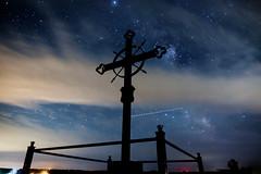 star crossed (Port View) Tags: fujixe2 hortonlanding novascotia canada cans2s 2016 summer night sky stars milkyway clouds cross deportationcross acadian monument memorial
