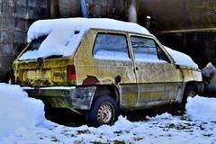 fiat panda 30 (riccardo nassisi) Tags: auto winter snow abandoned car pc rust fiat rusty renault wreck scrap peugeot urbex rottame epave abbandonata neverstopexploring groppallo