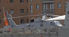 Seahawk on the Flight Deck (Hawkeye2011) Tags: uk london boats marine aircraft aviation military ships helicopter spanish maritime docklands frigate naval canarywharf warship seahawk f104 towerhamlets 2015 mendeznunez