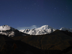 Mustang_1515 Annapurna Himal by star-light (from Chele) (Roger Nix's Travel Collection) Tags: nepal mustang himalaya chele chhele tsele