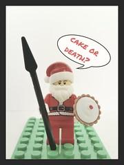 Santa does his Eddie Izzard impression #whatsantadoestherestoftheyear (karldelahaye) Tags: cake lego samsung eddie izzard spear legominifigure minifigures legosanta samsungs5 karldelahaye samsunggalaxys5 whatsantadoestherestoftheyear