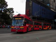 Volvo 7300 BRT   Sistema Metrobús L-1 (Christian Ventura MX) Tags: volvo ciudaddemexico distritofederal paseodelareforma insurgentes biarticulado metrobús 7300brt