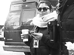DSCF1318BN (farnitano.amos) Tags: people woman newyork coffee fuji citylife streetphotography bn starbucks