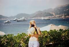 Budvanska Reviera (kutzz) Tags: blue sea summer sky mountains hot green grass analog marina training canon island photo focus exercise sunny palm adriatic montenegro crnagora svetistefan
