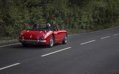Austin Healy (tyler howells) Tags: old uk red classic car sport wales austin restored british aber heely nantymoel