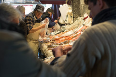 Fish market, Catania, Sicily (koupald) Tags: travel people italy fish man work trabajo italia streetphotography stall mercado sicily nikkor fishmarket catania sicilia lavoro   mercatodelpesce  lapescheria mercadodepescado   nikon50mm18g nikond610