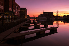 Sunset on the docks.