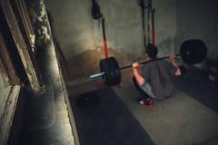 18/52 GARAGE GYM (Kryschot) Tags: bar garage samsung squat 300 rogue workout fitness gym nx crossfit nx300
