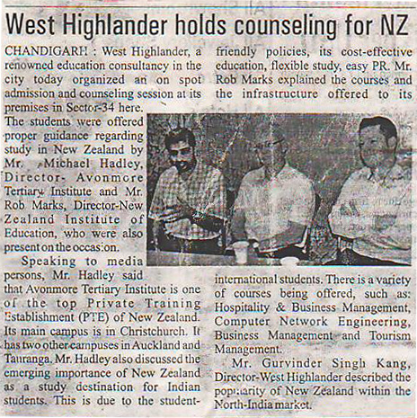 West Highlander Hold Counselling for New Zealand