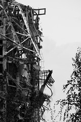 Profile b/w (charly.friedrich) Tags: white black nature architecture buildings germany ruins chaos decay sachsen