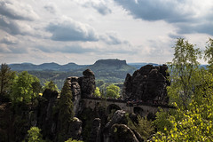 Bastei and Lilienstein (scuthography) Tags: bridge landscape photo amazing foto saxony may bastei lilienstein 2015 saxonswitzerland flickrglobal kathrinschild