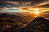 View from Ben Venue (GenerationX) Tags: sunset orange mountains water yellow clouds landscape golden evening scotland nationalpark warm unitedkingdom dusk scottish neil gb benlomond trossachs lochlomond barr gloaming benlui benvenue lochkatrine stronachlachar beinnchabhair locharklet kinlochard beinnachroin stobachoin cruinnbheinn beinnachoin rubhanamoine beinnchochan lochtinker rubhanammult