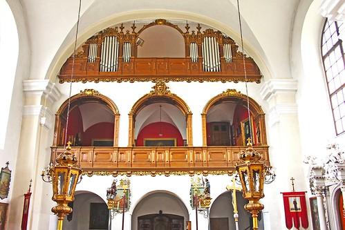 Artstetten. Schlosskirche. Musikempore mit Orgel 1911