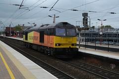 "Colas Rail Freight Class 60, 60096 (37190 ""Dalzell"") Tags: brush doughnut tug northwestern wigan class60 60096 type5 colasrail orangeyellowblack"