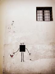 Window Love (I m Peace) Tags: street travel windows art love florence peace heart firenze quirky wallclimbing 2016