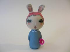 bunny girl custom kokeshi wood peg doll (amber leilani) Tags: kokeshi woodpegdoll