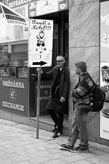 Poor Brigade (tomasboth61) Tags: street blackandwhite window hockey shop flag pair billboard advertisement streetphoto win 2016 bothfoto