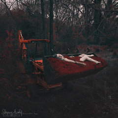 Excavate (SleepingAwakePhoto) Tags: photography dirt conceptual dig backhoe darkart excavate sleepingawakephotography