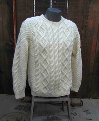 Fisherman aran irish jumper (Mytwist) Tags: irish classic wool fashion vintage sweater fisherman knitting cream ivory knit handknit craft style cable passion etsy knitted aran pullover authentic textured chunky laine vouge cabled aransweater funkomavintage mytwist aranjumper aranstyle