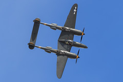 "Lockheed P-38J Lightning ""23 Skidoo"" (Norman Graf) Tags: california plane airplane airport fighter aircraft wwii airshow louise lancaster 23 lightning lockheed 162 warbird skidoo 23skidoo p38 wjf p38j kwjf 4423314 nx138am generalwilliamjfoxairfield 2016losangelescountyairshow"