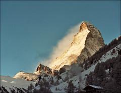 Morning light on Matterhorn (Katarina 2353) Tags: morning mountain alps film analog landscape switzerland nikon europe swiss zermatt matterhorn katarinastefanovic katarina2353